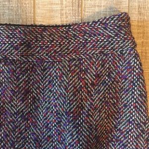 The Limited red & purple tweed skirt